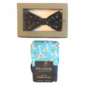 Jos. A. Bank Martini Bow Tie & Socks Gift Set